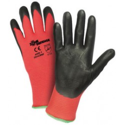West Chester - 701CRNF/XL-CA - West Chester X-Large Zone Defense 15 Gauge Nitrile Work Gloves With Nylon Liner And Knit Wrist, ( Case of 144 )