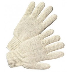 West Chester - 706S-DZ - West Chester White Large Cotton And Polyester General Purpose Gloves With Knit Wrist, ( Dozen of 12 )