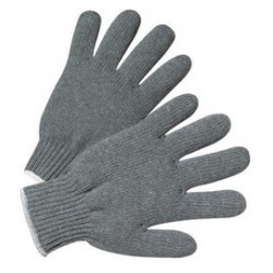 West Chester - 708SG-DZ - West Chester Gray Large Cotton And Polyester General Purpose Gloves With Knit Wrist, ( Dozen of 12 )