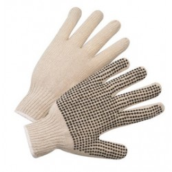 West Chester - 708SK-PR - West Chester Natural Large Cotton And Polyester General Purpose Gloves With Knit Wrist, ( Pair )