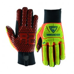 West Chester - 87010/2XL-PR - West Chester Size 2X Yellow R2 Evolution Synthetic Leather Full Finger Mechanics Gloves With Neoprene Cuff, ( Pair )