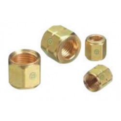 Western Enterprises - 10-EA - Western CGA-021 A 3/8 - 24 LH Brass 200 psig Hose Nut (For Wrench Flats), ( Each )