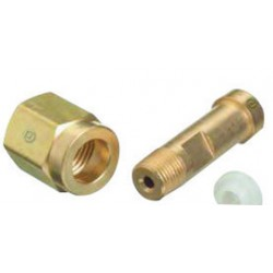 Western Enterprises - 110-3SF-EA - Western CGA-110 1/8 NPT Male X 1 3/4 L X 0.3125 - 32 UNEF-2A-RH-EXT Brass 3000 psig Regulator Inlet Nipple (For Gases in Small Cylinders), ( Each )