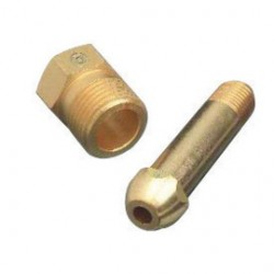 Western Enterprises - 15-11S - Western CGA-500/510/580/590 Brass 3000 psig Regulator Inlet Nipple, ( Each )