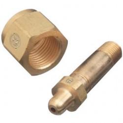 "Western Enterprises - 701-2 - Western 1.108"" - 14 NGO RH Female Brass Regulator Nut, CGA-701 (For Pressures Up To 5500 psig)"