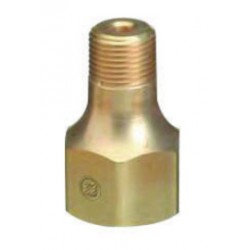 Western Enterprises - B-682 - Western CGA-680 Female RH X 1/2' NPT Male 1.045' - 14 NGO Brass 5500 psig Valve Outlet Adapter (For Manifold Pipelines), ( Each )