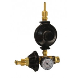 Western Enterprises - BR7HG - Western Auto Shut Off Economy Foil Balloon Inflator With Tapered Foil Valve, Contents Gauge And Hand Tight Connection, CGA-580