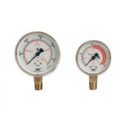 Western Enterprises - G-2-6000W - Western 2' 6000 psig Brass Dual Scale Pressure Gauge With 1/4' NPT Lower Port For RHP-3-P, RHP-2-4, RHP-2-4H, RHP-2-5 And RHP-2-5H Regulator, ( Each )