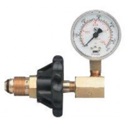 Western Enterprises - G-544 - Western 3000 psig 2' CGA-540 Oxygen Brass Cylinder Pressure Testing Gauge, ( Each )