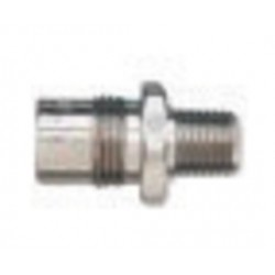 """Western Enterprises - M02-5 - Western 1/4"""" NPT Male DISS1020A 3/4"""" - 16 UNF Chrome Plated Brass 200 psi Body Adapter"""