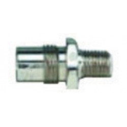 Western Enterprises - M04-5 - Western 1/4' NPT Male DISS 1040 - A 3/4' - 16 UNF Chrome Plated Brass 200 psi Body Adapter, ( Each )