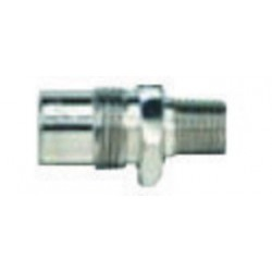 "Western Enterprises - M12-5 - Western 1/4"" NPT Male DISS 1120 - A 3/4"" - 16 UNF Chrome Plated Brass 200 psi Body Adapter"