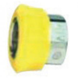"Western Enterprises - M16-2P - Western DISS 1160 - A 3/4"" - 16 UNF Chrome Plated Brass 200 psi Hand Tight Nut With Yellow Plastic Collar"
