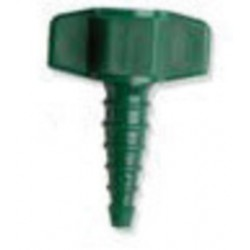 Western Enterprises - M24-45P - Western DISS1240 9/16' - 18 UNF Plastic 200 psi Tapered Barbed Nipple And Nut With Green Collar, ( Each )