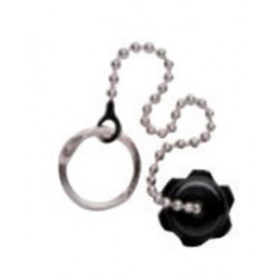 Western Enterprises - M24-48S - Western DISS 1240 9/16' - 18 UNF 200 psig Dust Cap With Chain And Eyelet, ( Each )