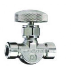 Western Enterprises - MV-17S - Western All Non-Corrosive Gas 1/8 NPT Female Brass Shut-Off Valve, ( Each )