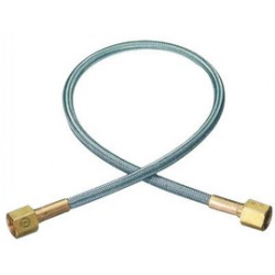 Western Enterprises - PF-4-12 - Western Oxygen 1/4' NPT Female X 12' 304 Stainless Steel Braid Flexible Pigtail With Brass Connection