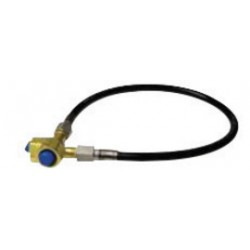 "Western Enterprises - PFS-83HT-24 - Western Hydrogen LH Female X 24"" Synflex Thermoplastic Flexible Pigtail With Brass Connections And Hand Tight Nut, CGA-350"