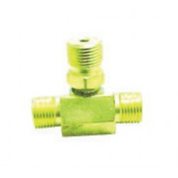 Western Enterprises - T3-320 - Western CGA-320 Male RH 3000 psig 3 Way Manifold Coupler Tee, ( Each )