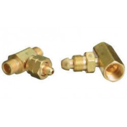 Western Enterprises - T-346SS - Western CGA-346 Female Brass Manifold Coupler Tee