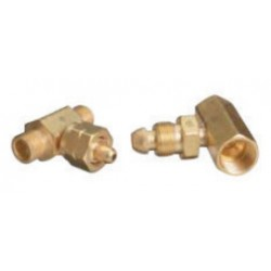 Western Enterprises - T-72CV - Western CGA-555 Female LH Brass 3000 psig Manifold Coupler Tee With Nut, Nipple And Check Valve