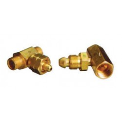 Western Enterprises - T-93 - Western CGA-590 Male LH Brass 3000 psig Manifold Coupler Tee With Without Check Valve, ( Each )