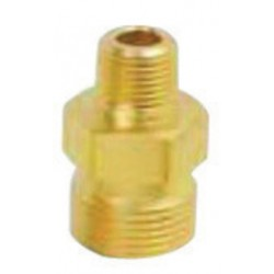 "Western Enterprises - WHF-3-32 - Western 1/2"" NPT Outlet X 1"" - 11 1/2 NPS Female LH Inlet 2.187"" L Brass 3000 psig Manifold Union Adapter"