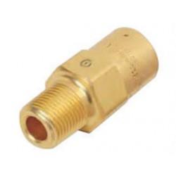 "Western Enterprises - WMV-4-7 - Western 1/4"" NPT Inlet Brass 3 - 70 psig Relief Valve Pipe Away Adapter"