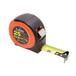 Apex Tool - 182-XL8525-BX - Cooper Hand Tools 1 3/16 X 25' Orange Lufkin 800 Series Xtra-Wide Power Return Tape (Tray Pack), ( Box of 4 )