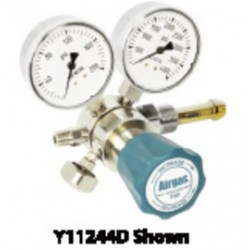 Airgas - 244B296 - Single Stage Brass 0-50 psi Analytical Cylinder Regulator CGA-296 With Needle Outlet, ( Each )