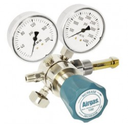 Airgas - 244D346 - Single Stage Brass 0-100 psi Analytical Cylinder Regulator CGA-346 With Needle Outlet, ( Each )