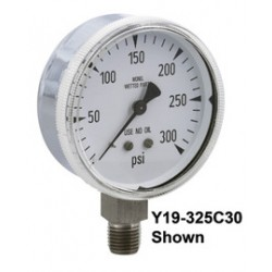 Airgas - 50615661 - 2 1/2 0 - 100 PSI Monel Gauge With 2 PSI Graduations And 1/4 Male NPT Lower Mount, ( Each )