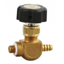 Airgas - 110N4HB-V4LR-B-3045 - Brass Control Valve With CGA-110 Inlet And 1/4 Barb Outlet, ( Each )