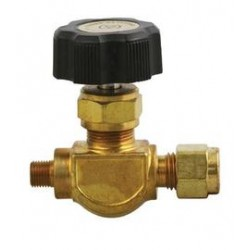 Airgas - 110N4A-V4LR-M-3045 - Monel Control Valve With CGA-110 Inlet And 1/4 Compression Outlet, ( Each )