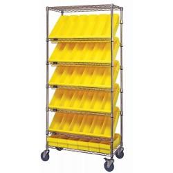 Quantum Storage Systems - MWRS-7-606 - MWRS-7-606 Mobile Slanted Shelf Cart