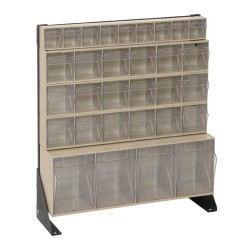Quantum Storage Systems - QFS124-31 - Quantum Storage Single Side Clear Tip Out Bin Floor Stands - 28 x 23.6 x 8 - Steel