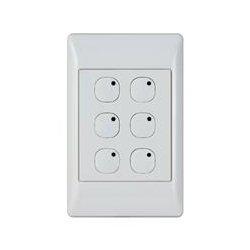 HAI / Home Automation - 113A00-8 - Omni-bus 6-btn Wall Swtch -wht