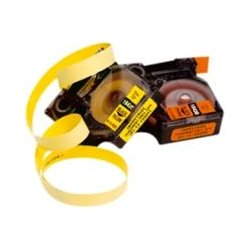 "DYMO - 18432 - Dymo RhinoPRO 18432 Label Tape - 0.47"" Width x 18.04 ft Length - Rectangle - Black, Yellow - Vinyl - 1 Each"