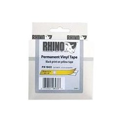 "DYMO - 18433 - Dymo RhinoPRO 18433 Label Tape - 0.75"" Width x 18.04 ft Length - Rectangle - Black, Yellow - Vinyl - 1 Each"