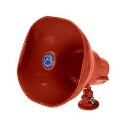Atlas Sound - AP-15TUCR - 15 Watt 70V Emergency Signaling Paging Horn - Built in Capacitor - RED