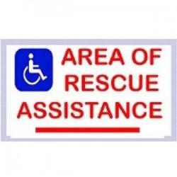 Alpha Communications - SNLM42S - Rescue Assis Sign-photo Single