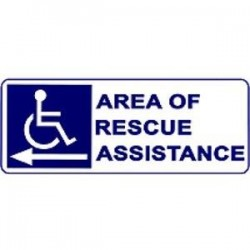 Alpha Communications - SNP42L - Area Rescue Sign Left