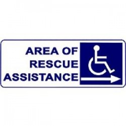 Alpha Communications - SNP42R - Area Rescue Sign Right