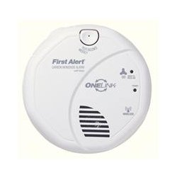 BRK Electronics - CO511B - BRK-First Alert CO511B Carbon Monoxide Alarm, Wireless, (2) AA Battery, 5 Diameter, White