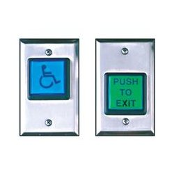 Camden Door Controls - CM-30E/LED - Grn Rex Btn W/ Led Illum