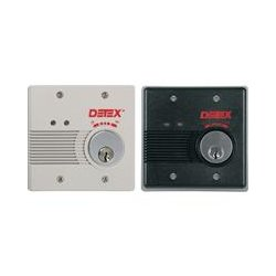 Detex - EAX2500SXMC65 - Detex EAX Battery Powered Exit Alarm with Mortise Cylinder - 9 V DC - 100 dB - Audible