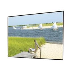 Draper - 252262 - Draper Clarion 252262 Fixed Frame Projection Screen - 110 - 16:9 - Wall Mount - 58 x 100 - HiDef Grey