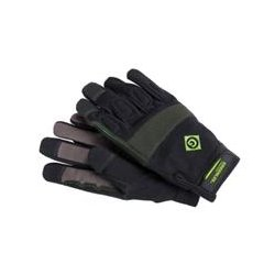 Greenlee / Textron - 035813L - Greenlee Handyman Gloves - Large Size - Fabric - Black - Absorbent, Reinforced Thumb, Reinforced Pull Tab, Hook & Loop Wrist Closure, Elastic Wrist - 1 Pair