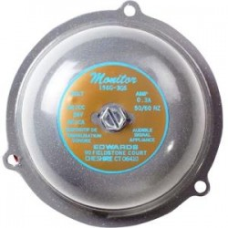 Edwards Signaling - 156G4G5 - Edwards 156G-4G5 Bell, Diameter: 4, 24V AC, 0.30A, Decibel: 76 @ 10', Metallic