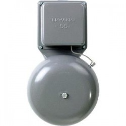 Edwards Signaling - 554G5 - Edwards 55-4G5 Vibrating Bell, 24VAC, Diameter: 4, 0.20A, Gray